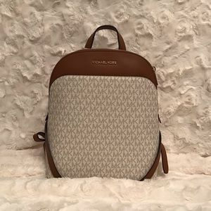 Michael Kors Emmy Large Dome Backpack - Vanilla
